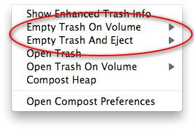 Compost - Gestione Trash Mac OS X