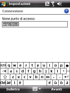 Configurazione WAP su Windows Mobile 6