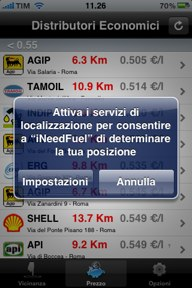 iPhone attivazione GPS
